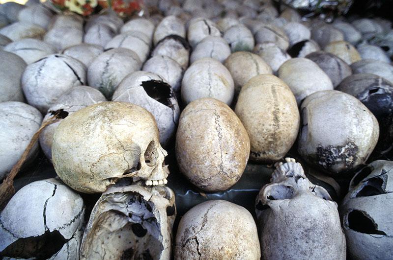 Останки жертв геноцида