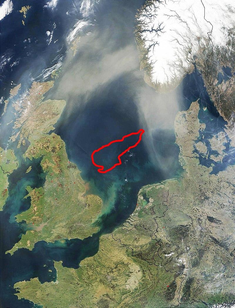 Местоположение Доггер-банки в Северном море.