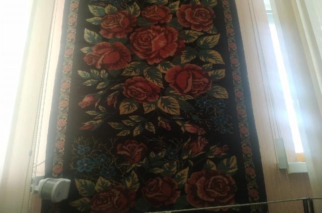 Яркие тюменские ковры.