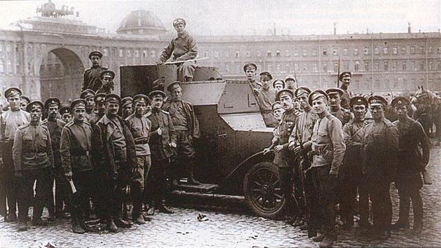 Контрреволюционный бронеавтомобиль с юнкерами