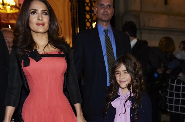 Сальма Хайек с дочерью