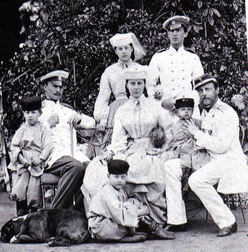 Константин Николаевич с семьёй.