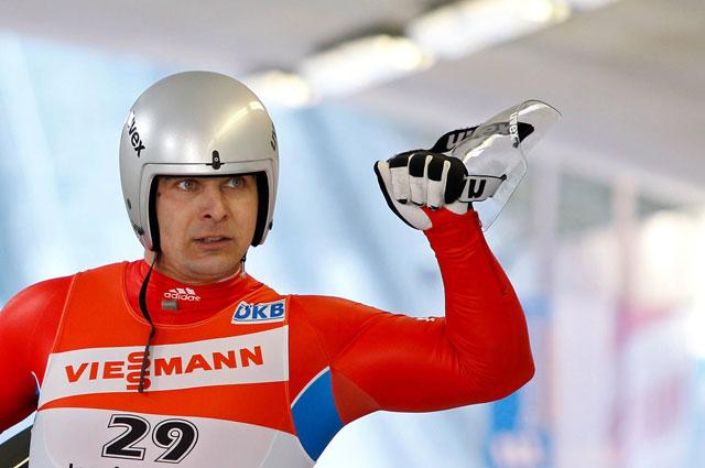 Саночник Альберт Демченко одна из надежд сборной России на Олимпийскую медаль