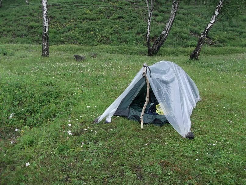 Палатка - главный дом автостопщика