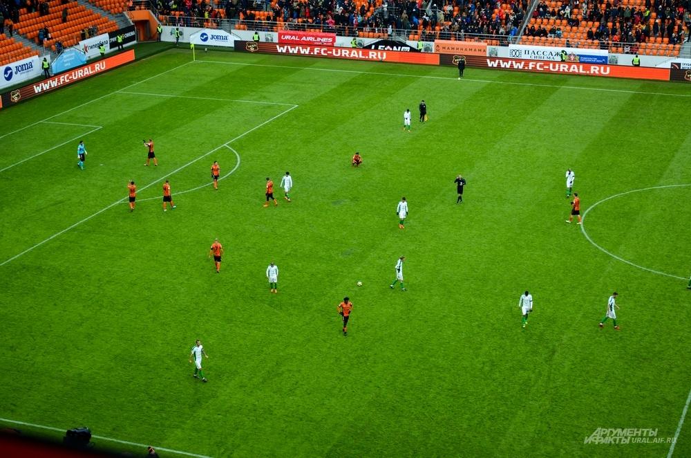 Первый тестовый матч на стадионе «Екатеринбург Арена»