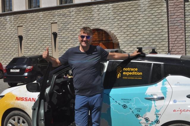 Марек Каминский в день проезжает по 250 км.