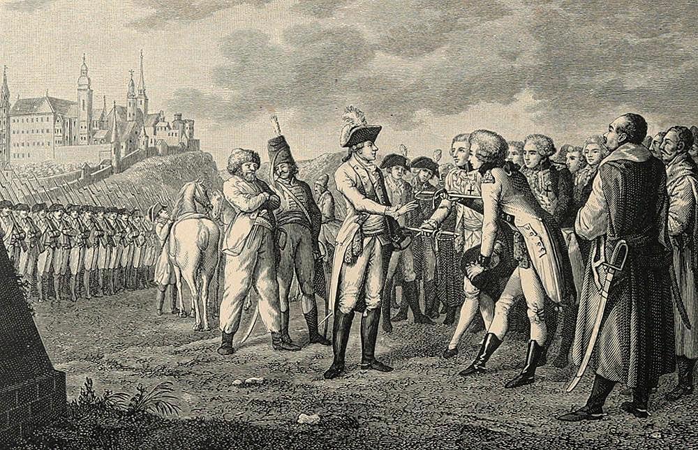 Краков капитулирует перед Суворовым.