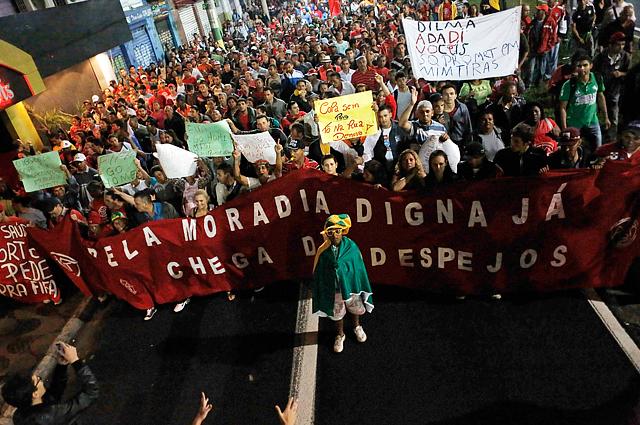 Протесты против ЧМ-2014 в Бразилии
