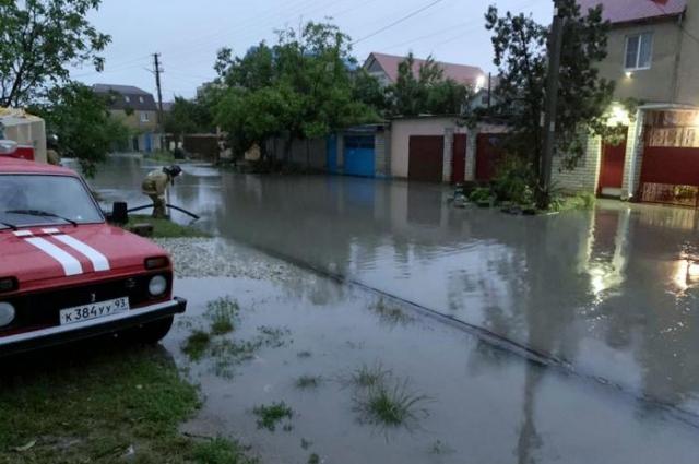 Затопленные улицы Анапы.