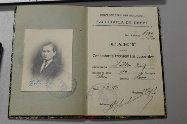 Зачетная книжка из университета Бухареста.