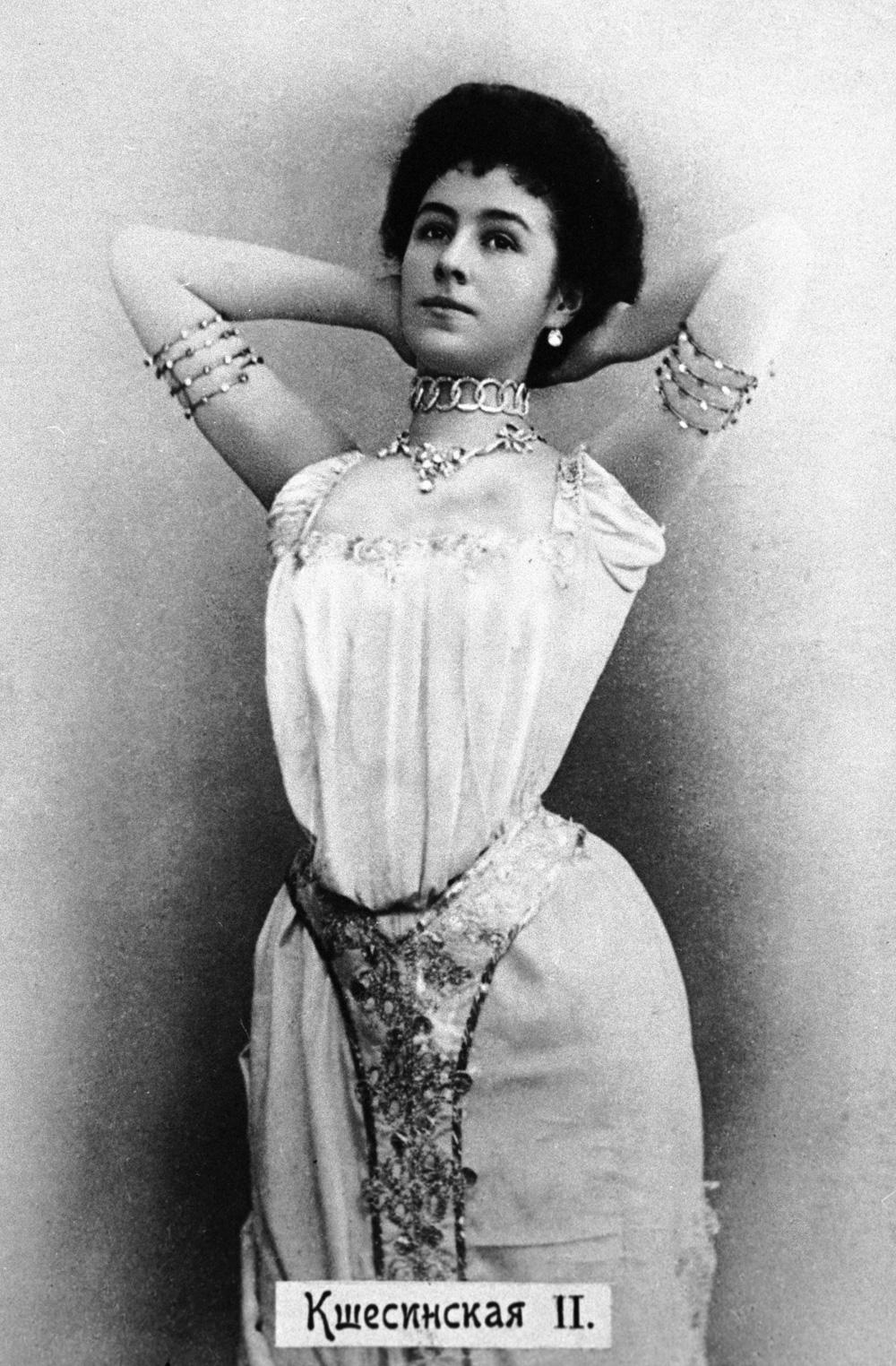Солистка Императорского Мариинского театра Матильда Кшесинская в балете «Дочь фараона», 1900 г.
