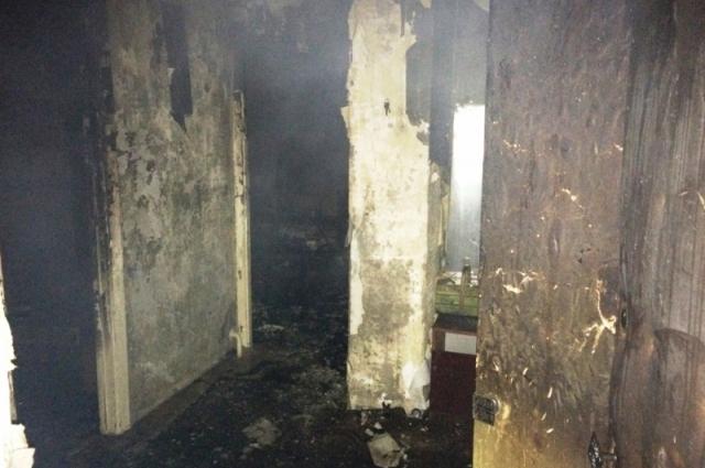 Последствия пожара в жилом доме ПГТ Кировского