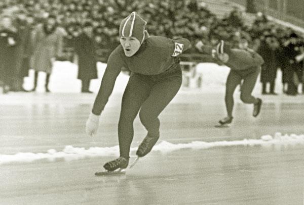 Советская конькобежка, заслуженный мастер спорта Лидия Скобликова в 1964 году