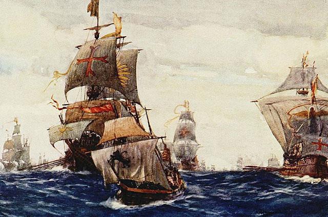Британский флот. Иллюстрация из книги «Королевский флот».