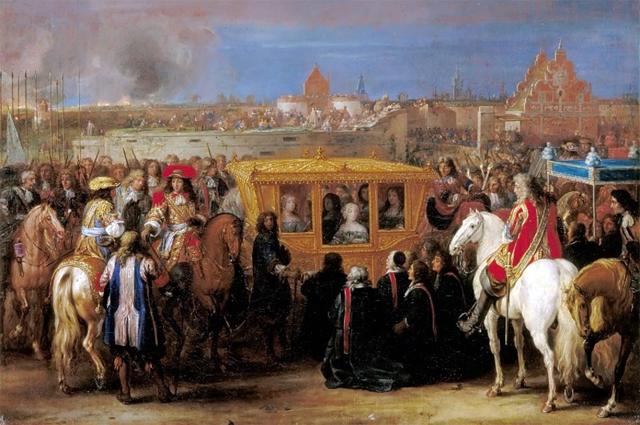 Вьезд Людовика XIV и Марии-Терезы в Дуэ 23 августа 1667 года.