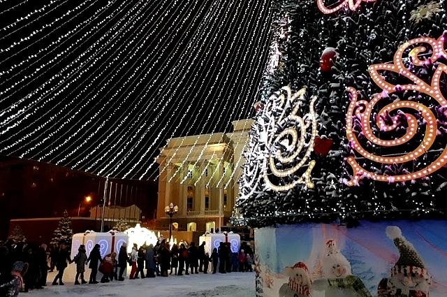 Главная городская елка Тюмени.