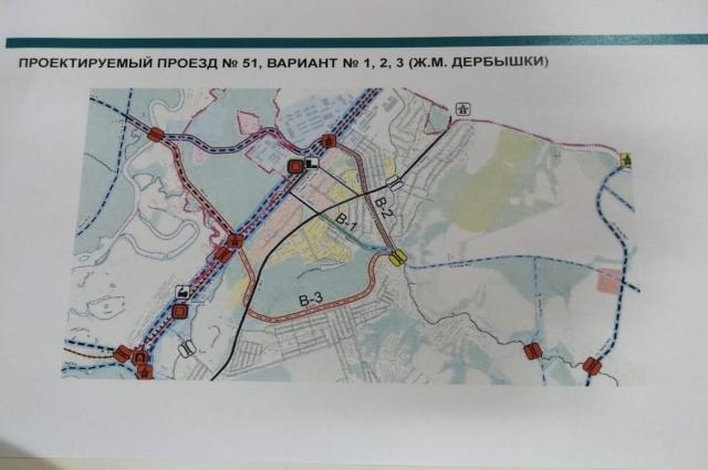 В проекте оставят вариант №3 - по границе пос. Нагорный.