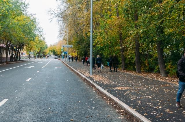 Улица Одесская после ремонта, Тюмень.