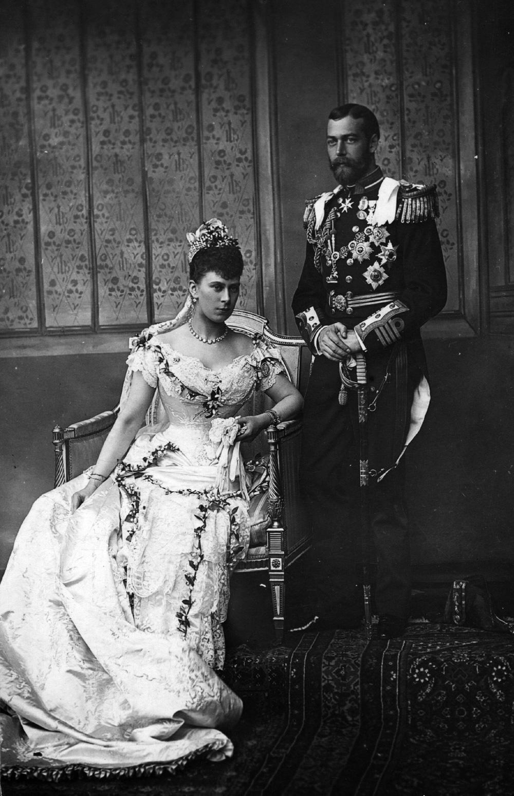 Георг и Мария в день свадьбы.