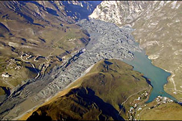 Последствие схода гляциального селя с ледника Колка