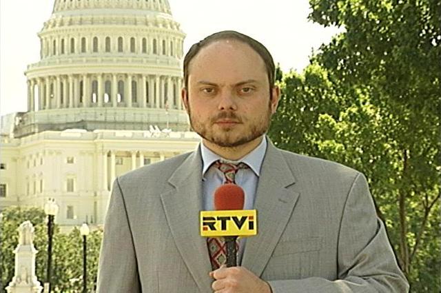 Владимир Кара-Мурза в эфире телеканала RTVi