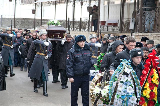 Дмитрия Маковкина похоронили 2 января на Димитровском кладбище Волгограда со всеми военными почестями