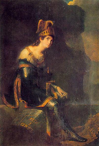 Зинаида Волконская в костюме Танкреда.