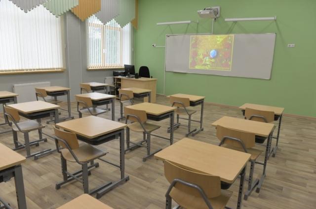 Один из кабинетов школы.
