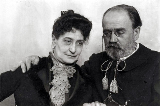 Эмиль Золя и Александрина Меле