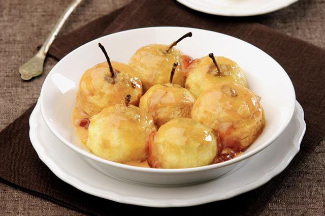 Яблоки в медовой карамели
