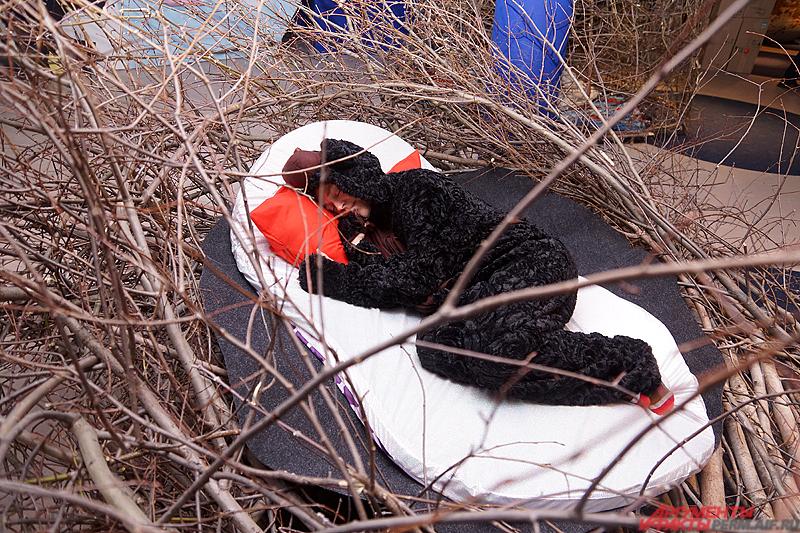 Поспать можно в уютных хижинах.