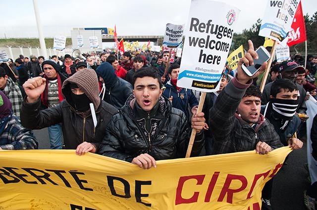 Беженцы в Кале