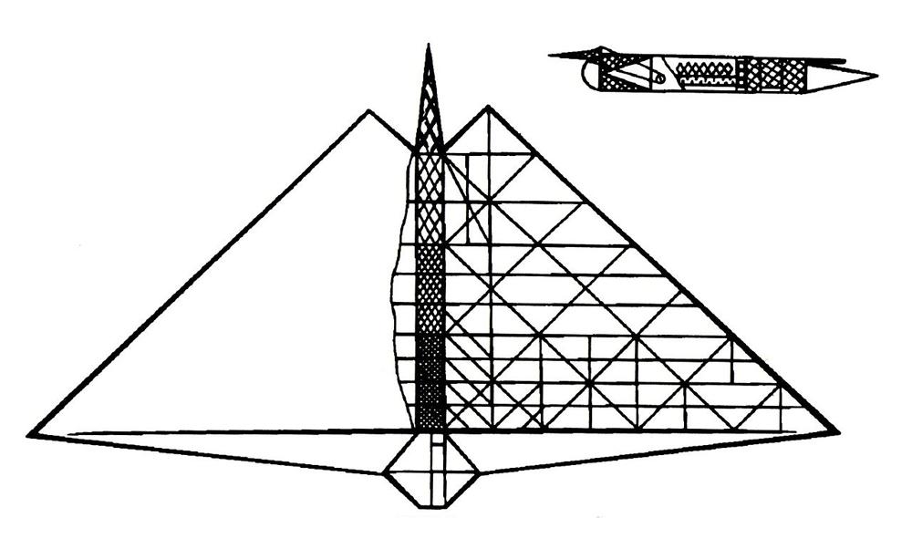 «Усовершенствованная система воздухоплавания» (чертёж из патента)