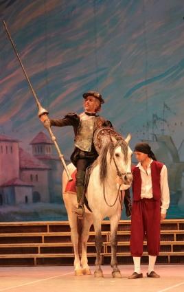 На ростовской сцене Известную историю о благородном рыцаре из Ламанчи на музыку Людвига Минкуса