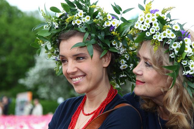 Ирина Алферова с дочерью Ксенией (справа налево).