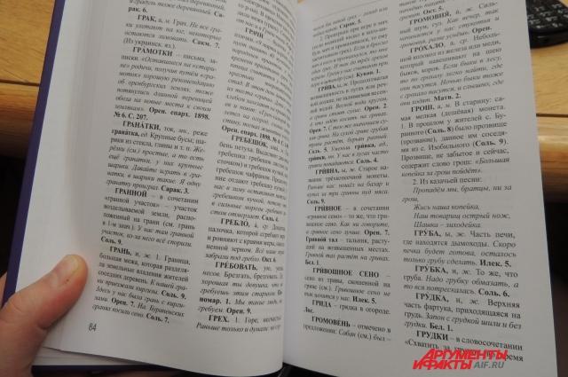 Открытие памятника словарю Даля совпало с презентацией Оренбургского областного словаря.