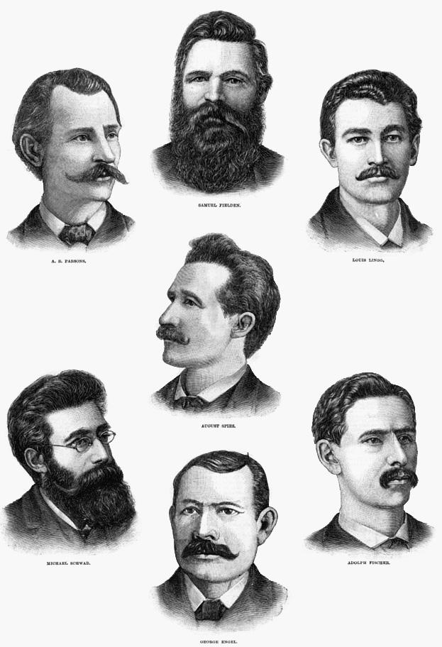 Жертвы событий на Хеймаркет — семеро анархистов.