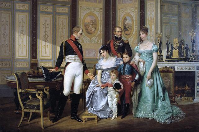 Императрица Жозефина принимает императора Александра I  и его детей в Мальмезоне