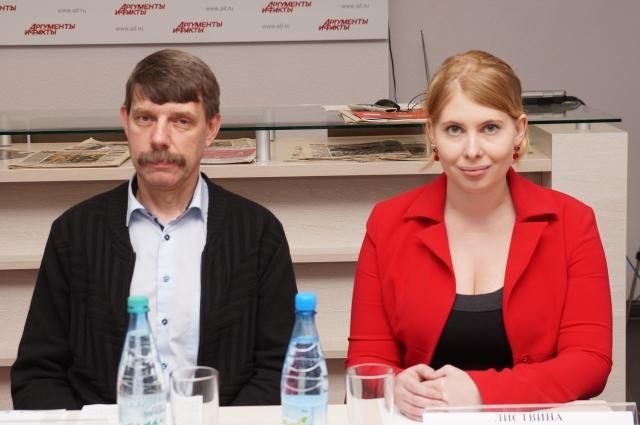 Сергей Мичурин, ответственный секретарь приемной комиссии ГУАП и Власта Листвина, ведущий специалист Центра довузовской подготовки ГУАП.