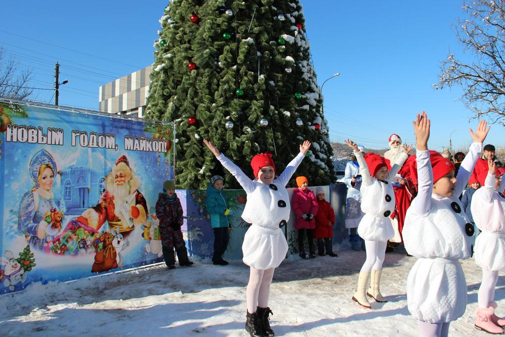 новый год в Майкопе, новогодняя елка
