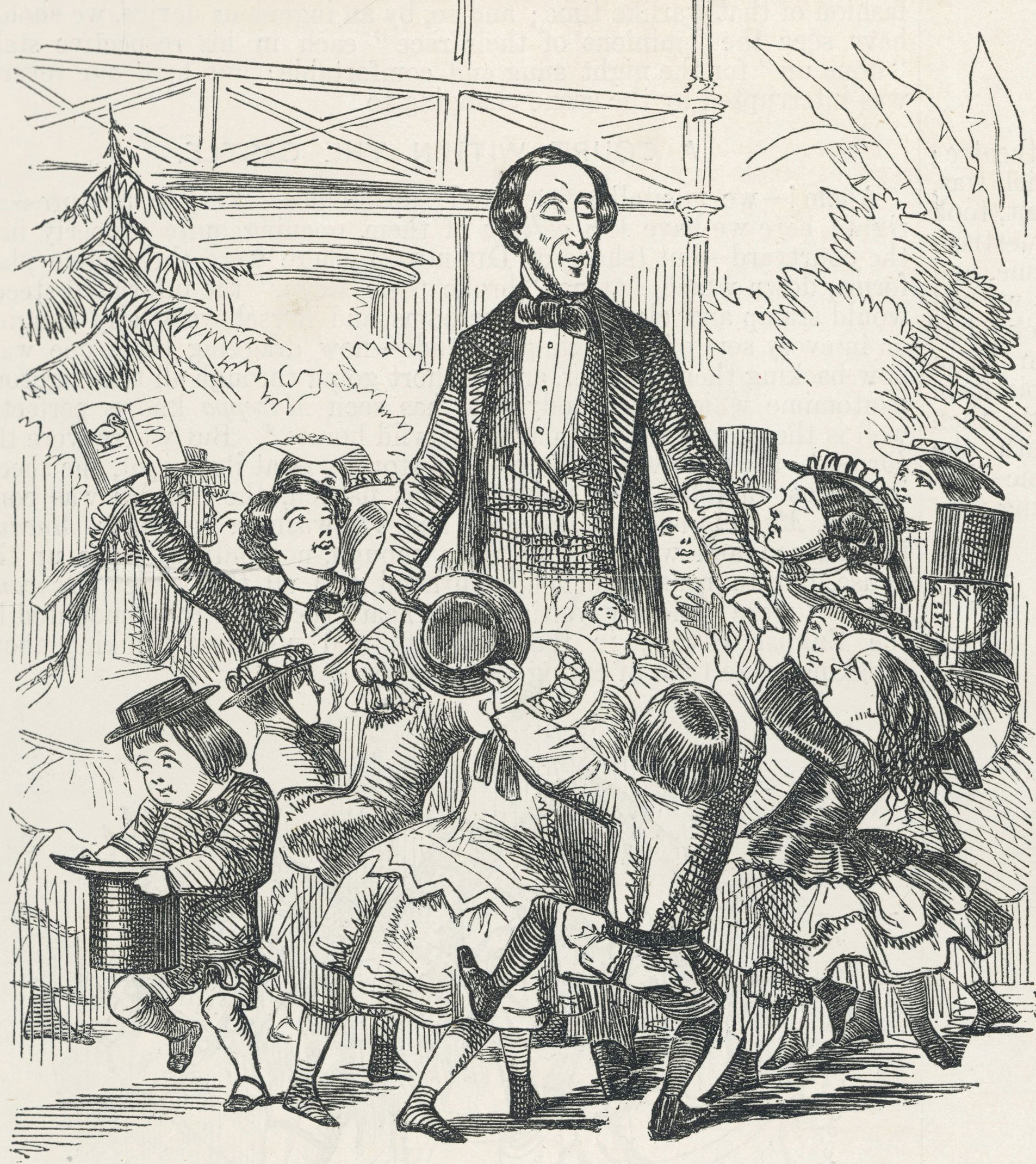 Рисунок в честь визита Ганса Христиана Андерсена в Лондон, 1857 год