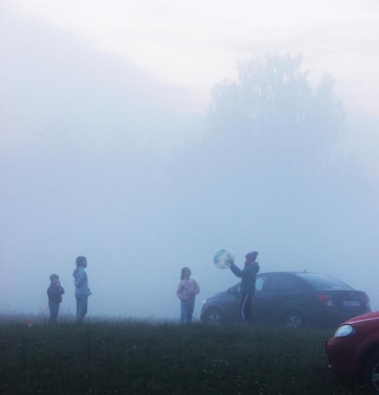03.Как только наступили сумерки, ёжики в тумане начали играть в пляжный волейбол.