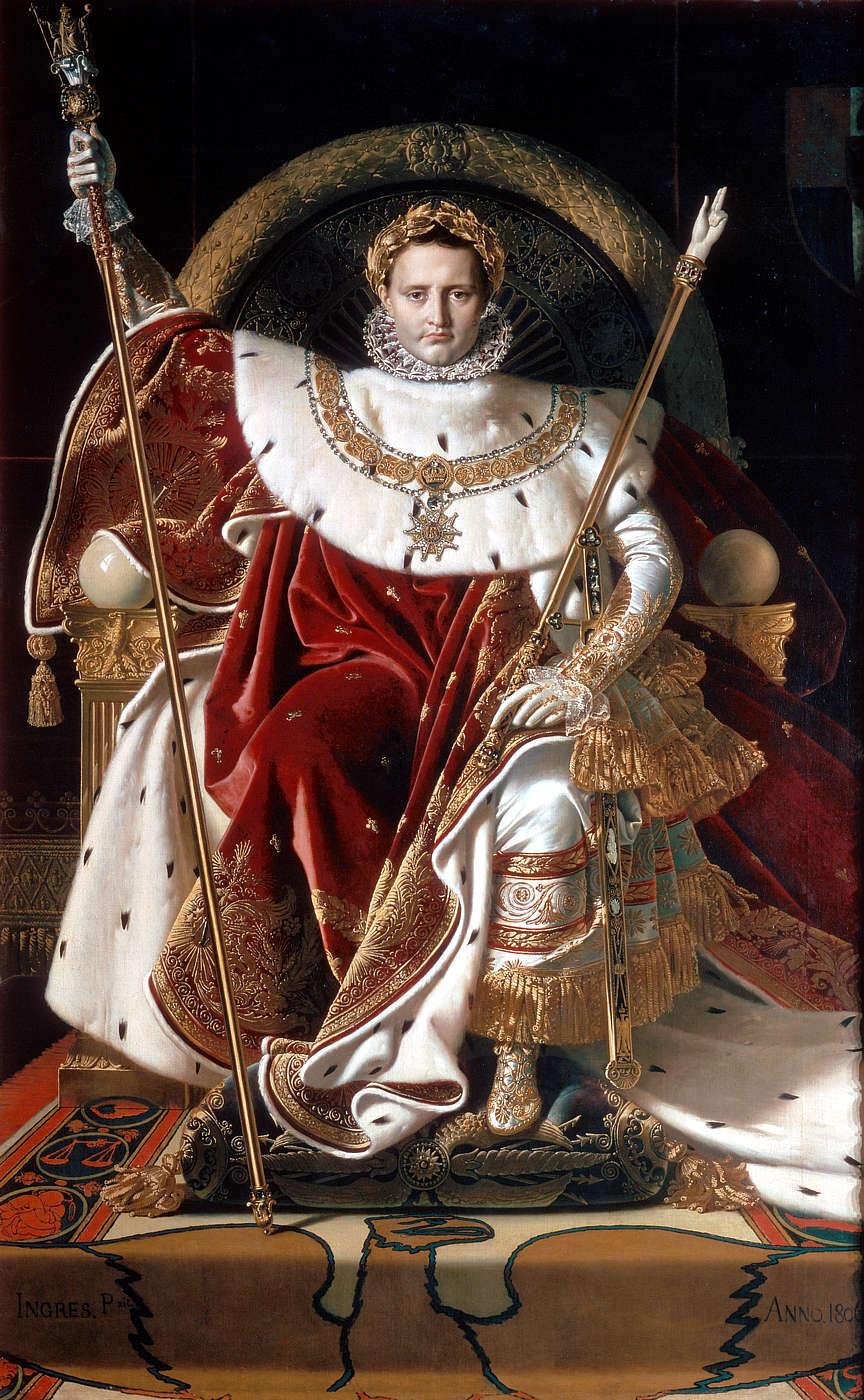 Наполеон на императорском троне. Художник Жан Огюст Доминик Энгр