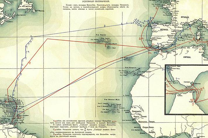 Карибский поход Вильнёва. Март — октябрь 1805 года.