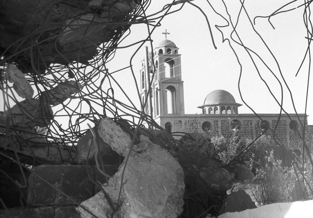 Следы арабо-израильского вооруженного конфликта «Война судного дня» или «Октябрьская война» наГоланских высотах.