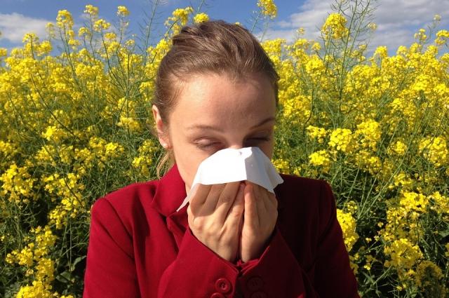 Аллергия на пыльцу является сезонной.
