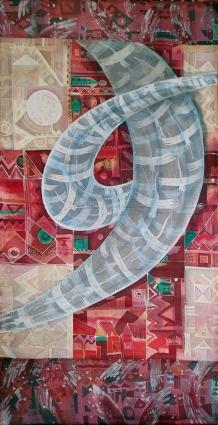 Глядя на произведения Марины Головановой, где в каждый фрагмент шелка нужно всматриваться, чтобы погрузится в новый мир