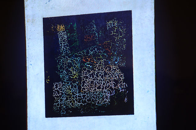 Эксперты Третьяковской галереи обнаружили под красочным слоем картины цветное изображение.