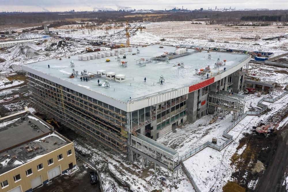 Стройка нового терминала челябинского аэропорта.