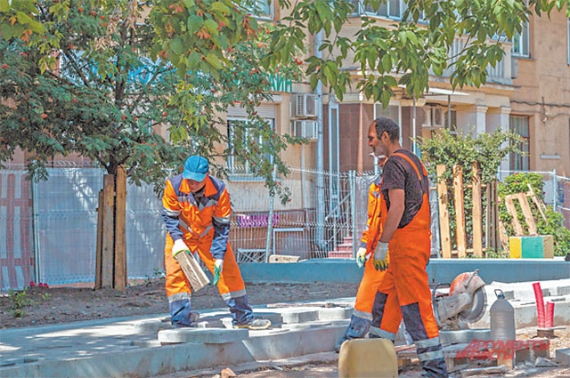 Ремонт дворов вДорогомилове закончится ксередине августа.